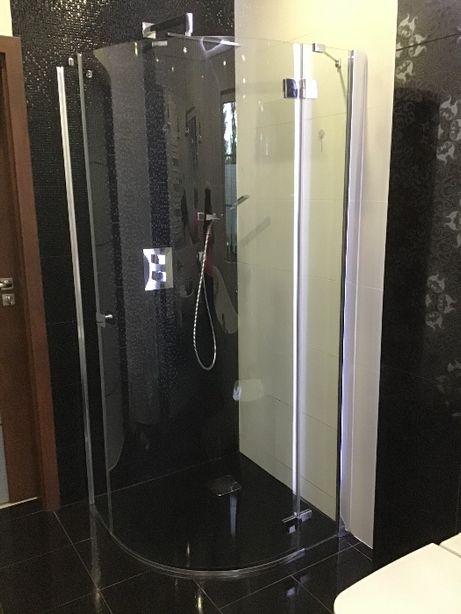 Sprzedam Kabinę prysznicowa półokrągła wraz z brodzikiem 90x90 cm