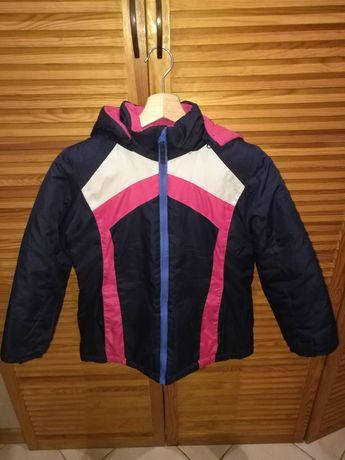 Ciepła zimowa kurtka dziewczęca rozmiar 146 8-10lat