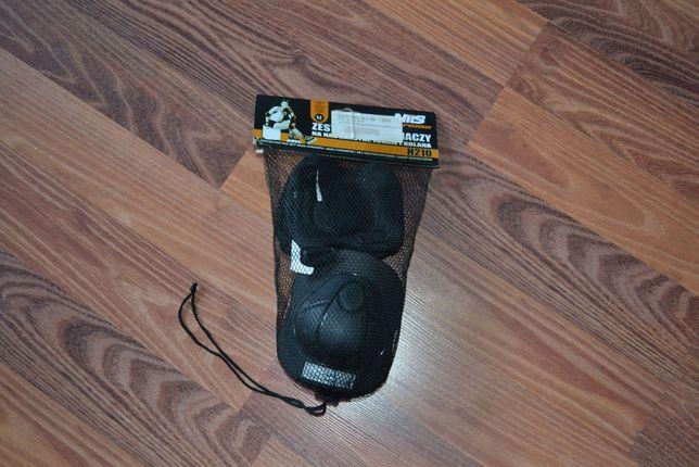 Zestaw ochraniaczy czarne ochraniacze deskorolka hulajnoga rolki