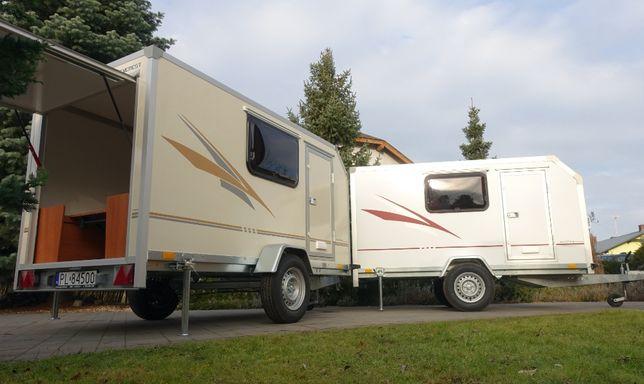 Nowy EVEREST Mini Camp Przyczepa kempingowa lekka 750kgDMC