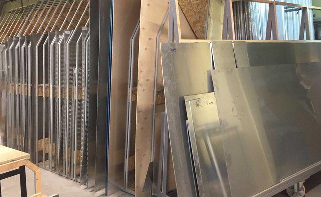 Алюминиевый лист 1 1,5 2 3 4мм рифл. квинтет/гладкий  дюраль заготовки
