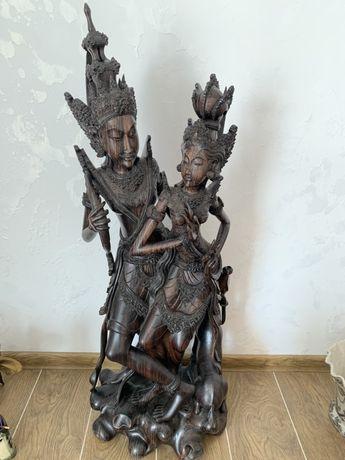 Деревянная статуэтка, чёрное дерево эбен!