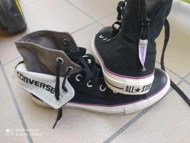 Converse all star długie czarne rozmiar 6 (39)