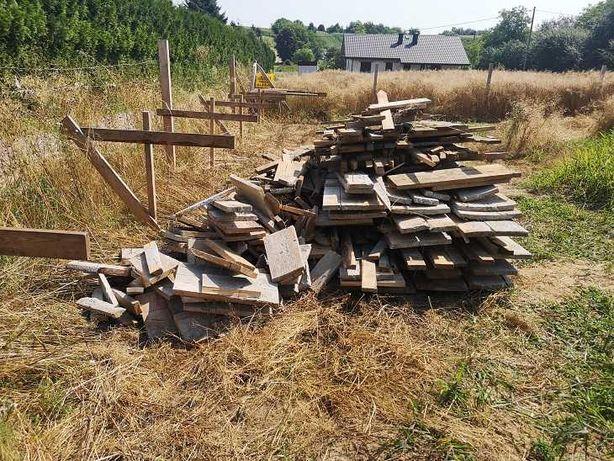 Drewno - Deski szalunkowe , pozostałość po budowie OK  4,5 KUBIKA !