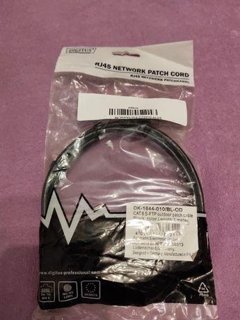Kabel przewód sieciowy Patck Cord 1M Cat 6 S-FTP outdoor 2xRJ45 czarny