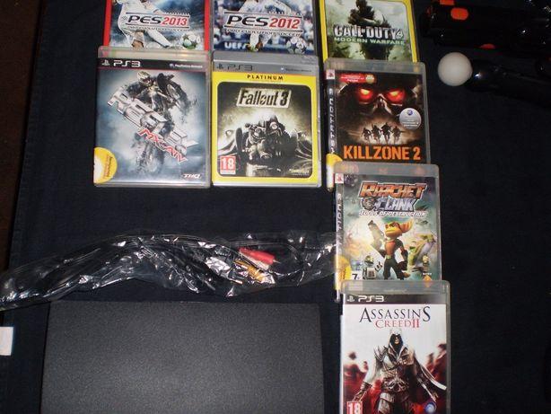 consola playstation 3 com jogos e acessorios