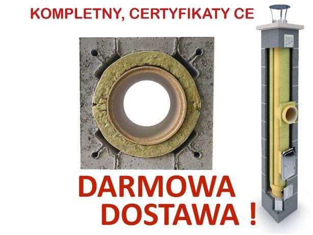 Komin ceramiczny system kominowy K fi 200 5m KOMPLETNY OCIEPLONY DOBRY