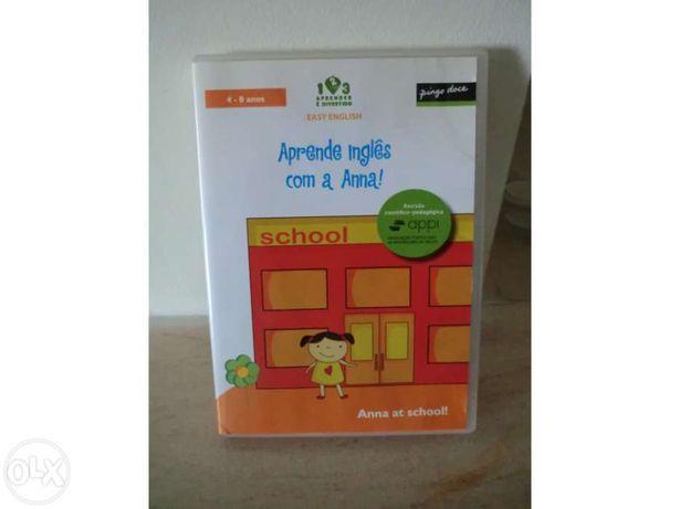 """Dvd interativo easy english """"aprende inglês com a anna"""