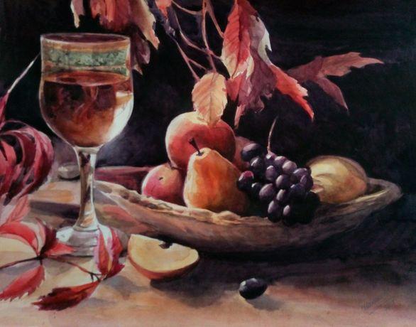Картина Акварель - Натюрморт с фруктами - художник Оксана Шашкова