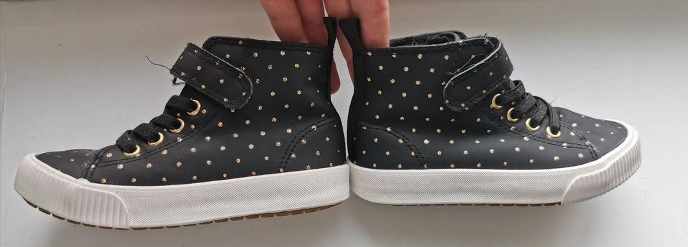 Buty dziewczęce, jesienne, czarny_złoty, H&M r. 27 (17cm) Zbąszynek - image 1