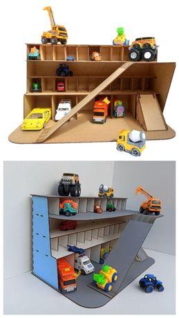 Гараж для машинок, Детский паркинг-гараж, Деревянная парковка вк