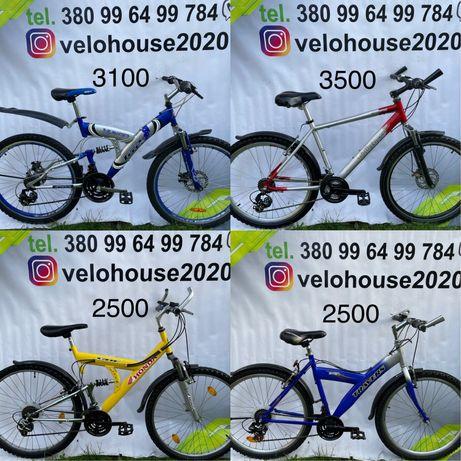 Гірські велосипеди на 26 колесах, з Європи на дискових томозах, б/у !