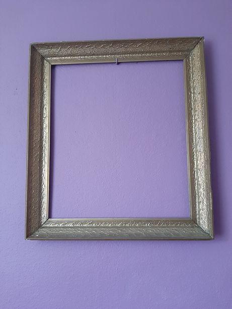 Złota duża rama do obrazu lustra