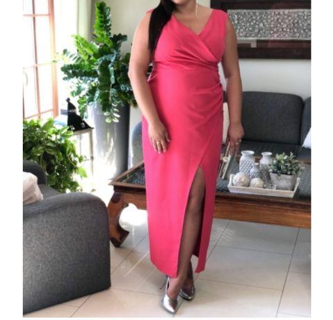 Dluga suknia malinowa darmowa wysyłka
