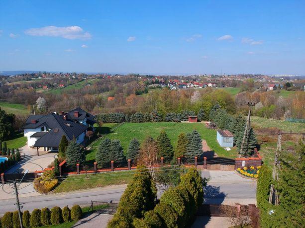 Piękna działka idealna dla repezentacyjnego domu,4 km od Krakowa