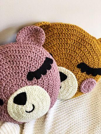 Almofadas ursinho feitas em crochet