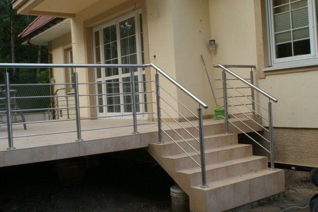 Balustrada nierdzewna schody balkony tanio