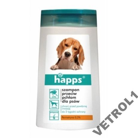 Happs szampon na pchły dla psów 150 ml