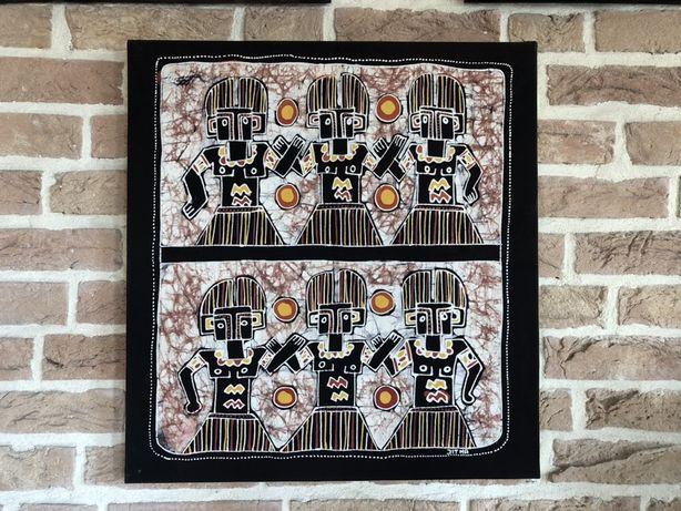 Batik Indonezyjski Indonezja Indie obraz blejtram 44x47 cm Wrocław 3