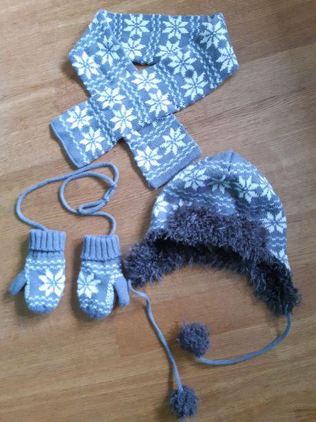 Czapka+szalik+rękawiczki COOL CLUB