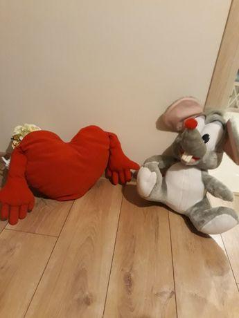 2 szt. Maskotki mysza i serce ,,Dwa przytulasy,,