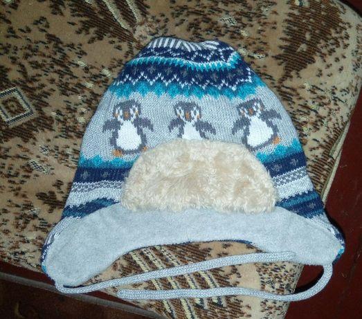 Шапка шапочка теплая зимняя