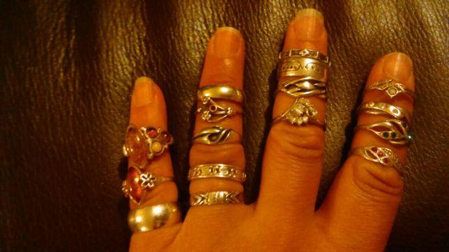 Srebrna biżuteria, pierscionki.925