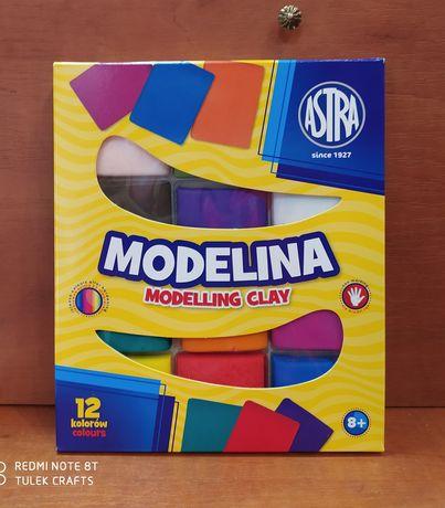 Modelina Astra 12 żywych i pastelowych kolorów