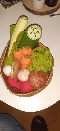 Pluszowe kosze z warzywami i owocami IKEA
