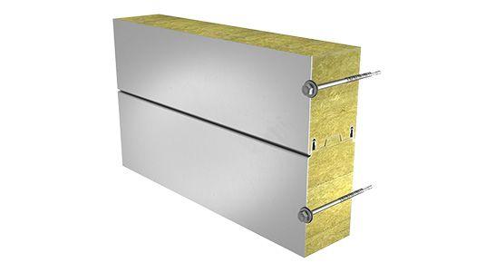 Сэндвич-панель Ruukki SPB 80W с минеральной ватой