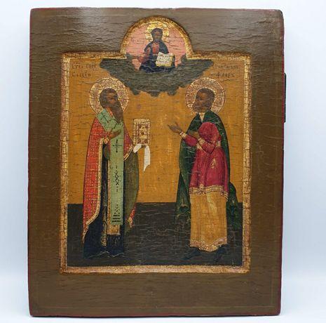 Ikona rodzinna Św. Błażeja i Flora, I połowa XIXw