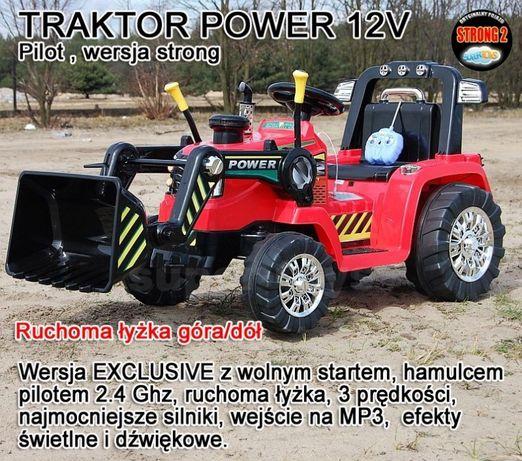 Pojazd na akumulator KOPARKA TRAKTOR ruchoma łyżka, 2.4 GHZ,2x45W/2589