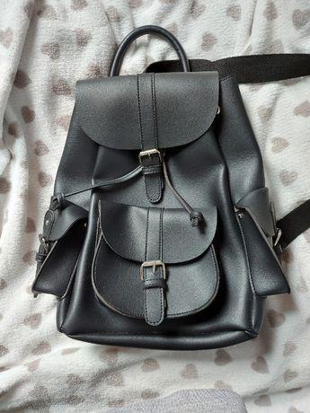 Plecak damski CROPP, czarny, biały