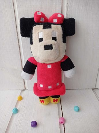 Мягкая игрушка Минни Маус Майнкрафт minecraft пиксель minnie mouse
