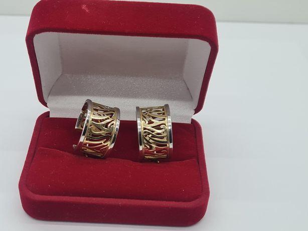Piękne złote kolczyki 585