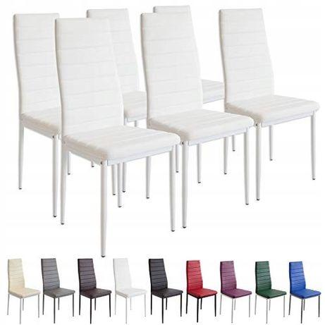 Albatros 2699 Milano 6 x 4x krzesło do jadalni, białe