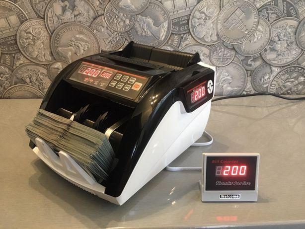 Счётная машинка с детектором купюр . Счетчик банкнот, валюты.