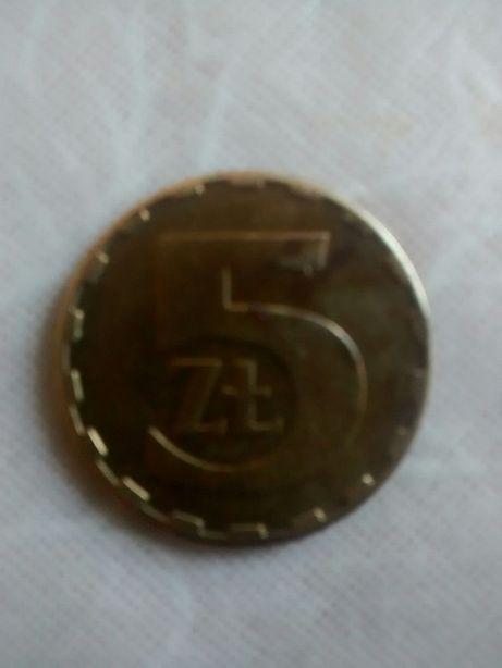 Монета 5 злотых 1986 ( Польша)