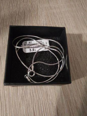 Łańcuszek srebrny żmijka-42cm,próba 925