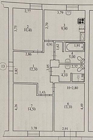 Продам 3-х комнатную квартиру (сталинка)