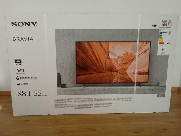 """NOWY telewizor Sony Bravia 55"""", model: KD55X80J Okazja! 3300 zł"""