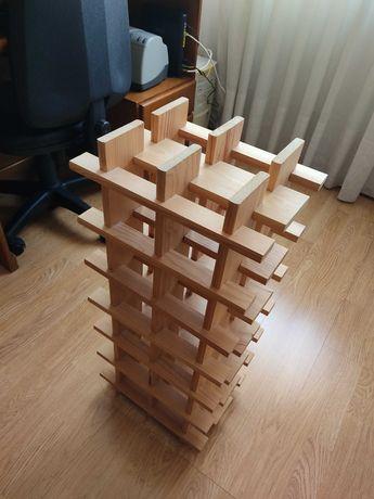 Garrafeira em madeira de pinho - 12 garrafas - ótimo estado