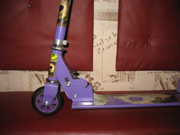 Самокат детский фиолетовый 2-х колесный Маша и Медведь