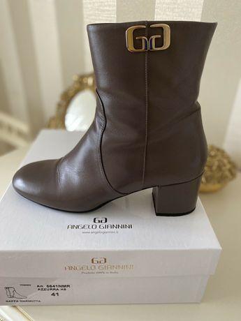 Італійські шкіряні осінні черевички відомого бренду AngeloGiannini.