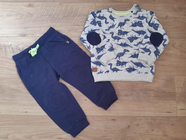 Dres Cool Club Smyk 92 dinozaury dla chłopca spodnie bluza