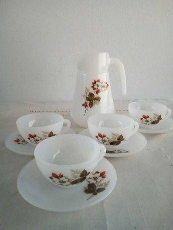 Jarro + 4 chávenas de café vintage / coffee set