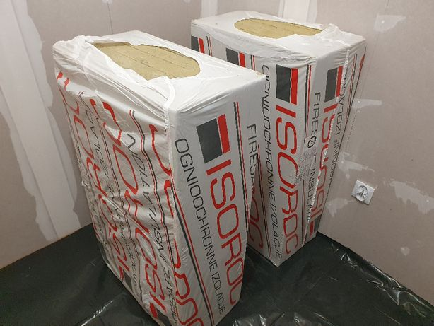 wełna skalna mineralna ISOROC ISOFAS 60mm fasadowa, 6m2 - 10 sztuk
