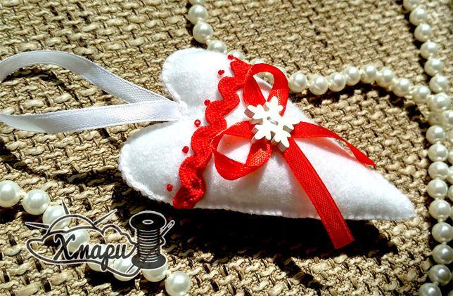 Новогодние игрушки из фетра handmade