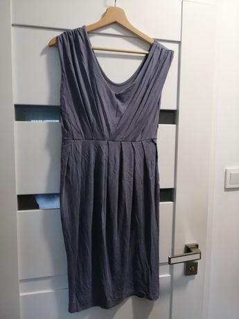 Sukienka tunika ciążowa szara grafit m