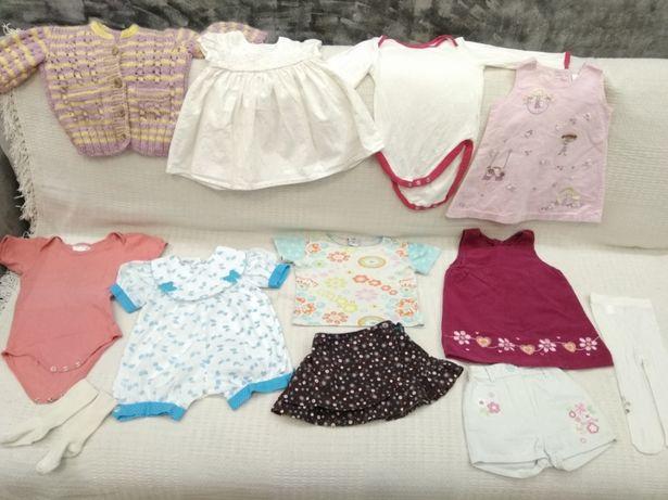 Пакет одежды на девочку до года. Платье, боди, юбка, шорты, кофта